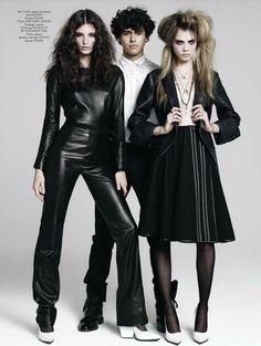 Ava Smith, Rodrigo Braga and Cara Delevingne by Jean-Baptiste Mondino for CR Fashion Book n.1 F/W 2012-2013