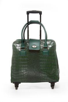 Crocodile Green Fashion Trolley Bag – Hang Accessories