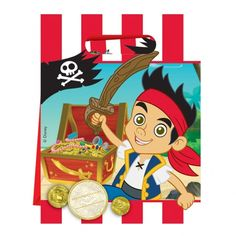 Loot bags for the pirate party treasure! Jake & the Neverlands Pirates Party Loot Bags Pack of 6 | Perfect Party UK