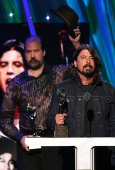 Dave Grohl 4/10/14 for Nirvana Rock and Roll Hall of Fame