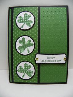 stampin up st patrick's day | this is the card that i made for the go green challenge on create with ...