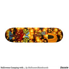 Halloween Camping with zombie bees and alien tree Skateboard Skateboards For Sale, Halloween Camping, Bees, Accessories, Jewelry Accessories