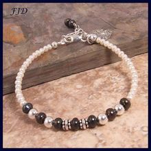 Freshwater Pearl and Sterling Silver Bracelet - layer it with other bracelets or a watch!