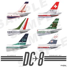Gate 72 | Commercial Classics (DC-8) - Vintage Airliners T-Shirt | Online Store Powered by Storenvy
