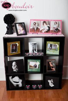 photography studio display shelf