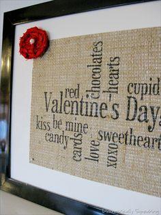Valentine's Day Burlap | Domestically Speaking