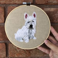 Your place to buy and sell all things handmade Wooden Embroidery Hoops, Embroidery Flowers Pattern, Hand Embroidery Stitches, Flower Patterns, Hessian Fabric, Linen Fabric, Portrait Embroidery, Diy Gifts For Him, Embroidered Gifts
