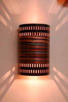 burned copper stainless contemporary wall sconce up and down