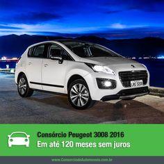 Confira as novidades da nova linha 2016 do Peugeot 3008: https://www.consorciodeautomoveis.com.br/noticias/consorcio-peugeot-3008-2016-em-ate-80-meses-sem-juros?idcampanha=206&utm_source=Pinterest&utm_medium=Perfil&utm_campaign=redessociais