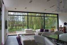 Recent Project – Contemporary Aluminium Windows, Bi-Folding Doors and large Sliding Doors with Pocket Frame – Slide 35