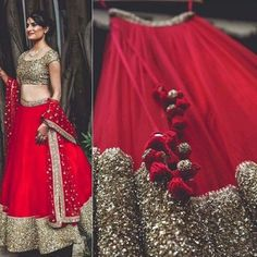 Designer Red Georgette Lehenga With Heavy Sequence Work - Lehenga Choli - Lehenga - Womenswear Half Saree Lehenga, Lehnga Dress, Red Lehenga, Party Wear Lehenga, Party Wear Dresses, Golden Lehenga, Heavy Lehenga, Lehenga Gown, Designer Bridal Lehenga