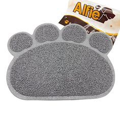 Alfie Pet by Petoga Couture  Gwenda Cat Litter Mat  Pattern Grey Paw Size L ** You can get more details by clicking on the image.(This is an Amazon affiliate link and I receive a commission for the sales)