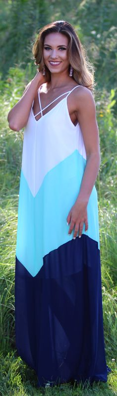In The Distance Maxi Dress in Atlantis | Monday Dress Boutique