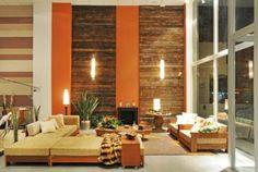 dicas de paredes de madeira na sala decoração