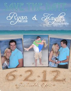 Custom Beach Save the Date by TypeMeetsPaper on Etsy, $1.50