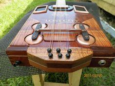 All out custom copper Quad build, African rosewood neck, curly koa fingerboard, museum quality fiddleback koa trim,handmade pickup plate of Gaboon Ebony. double 3 string. Gone to Nashville,Tn. area U>S>A
