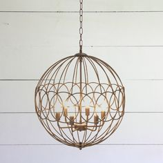 Graceful Roundabout Orb Chandelier