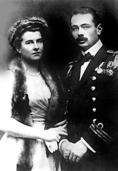 Georg Ritter von Trapp, commander of Austrian submarine U5, with fiancee Agathe Whitehead. The story of his family inspired the musical The Sound of Music.