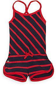 Toddler's & Little Girl's Striped Short Jumpsuit