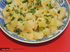 Cartofi cu sos de usturoi si ulei