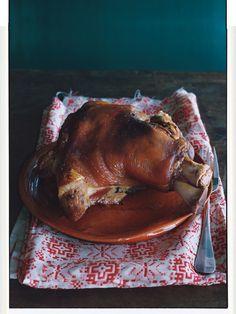 Garlic-Roasted Pork Shoulder