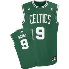 c5f4452f756 Adidas NBA Boston Celtics 9 Rajon Rondo New Revolution 30 Road Green Jersey  Celtics Apparel