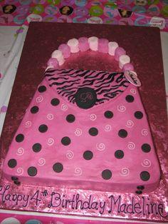 barbie purse cake
