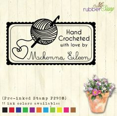 Items similar to Custom Personalized Crochet Stamp (Pre-inked Stamp) Craft Supplies, Yarn Stamp, Packaging Stamp, DIY Tag, Handmade by Stamp on Etsy Ink Stamps, Mochila Crochet, Craft Logo, Wood Stamp, Christmas Sewing, Custom Stamps, Etsy Crafts, Ink Pads, Wraps