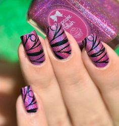 NAIL ART STAMPING BUTTERFLY 7