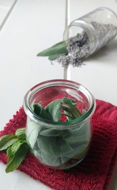 Herbal face steam for clear skin     2 tsp dried lavender flowers (or 1 T fresh)      Place the herbs and essential oil into a wide, glass bowl. Pour boiling water into the bowl.     Lean your head over the bowl and place the towel over your head, so that it forms a tent. Be sure that you don't get too close to the steam at first, since it can burn your skin. As the water cools though, you'll have to lower your face closer to the water for the steam to reach it. After you're done with the…