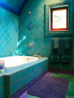 Love the teal and purple ther | First home ideas ! | Pinterest ... Teal Tuscan Bathroom Design Html on