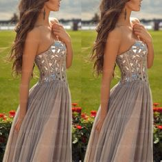 The Grey prom dress are fully lined, 4 bones in the bodice, chest pad in the bust, lace up back or zipper back are all available, total 126 colors are available. This dress could be custom made, there are no extra cost to do custom size and color.  Description of Grey prom dress 1, Material: ...