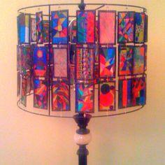 Shrinky Dinks Lamp--school auction art project