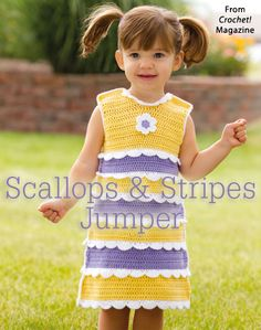 Scallops & Stripes Jumper from the Spring 2015 issue of Crochet! Magazine. Order a digital copy here: https://www.anniescatalog.com/detail.html?code=AM22158