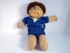 Vtg Cabbage Patch Kid Baby Doll Sailor Outfit Diaper 1982 Boy CPK Needs Repair #Coleco #DollswithClothingAccessories