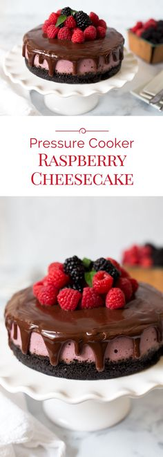 Pressure Cooker Raspberry Cheesecake