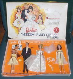 Image detail for -Very Rare 1964 Barbie's Wedding Party Gift Set Play Barbie, Barbie Skipper, Barbie Dream, Barbie And Ken, Barbie Stuff, Vintage Barbie Clothes, Vintage Dolls, Barbie Family, Barbie Wedding