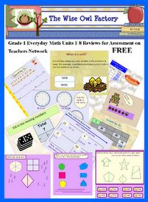FREE: Units 1-8 Grade 1 Everyday Math Review for Assessments