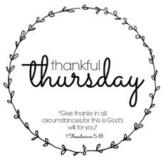 She Who Longs To Be: Thankful Thursday