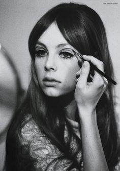 Lisa Eldridge Make Up | Blog | Gallery Update - Edie Campbell as Pattie Boyd for Lula
