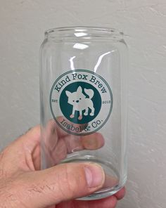 Kind Fox Brew Pint Glass, Brewing, Fox, Tableware, Life, Dinnerware, Brow Bar, Dishes, Foxes