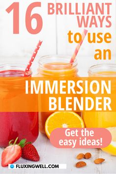 16 Brilliant Ways to Use an Immersion Blender will give you ways to use a stick blender for recipes. Get the best blender ideas for using this cool kitchen gadget. Improve the way you make blender smoothies, soups, milkshakes, mashed potatoes and more. Find tips for using a hand blender and get the best immersion blender recipes. Smooth out your home cooking when you make easy, healthy blender recipes using this creative kitchen tool. Once you try it, you'll be a believer in immersion… Fun Easy Recipes, Easy Salad Recipes, Easy Salads, Easy Meals, Immersion Blender Recipes, Healthy Blender Recipes, Food Tips, Food Hacks, A Food