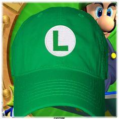 gorra luigi super mario bros fan art logo al detal mayor 69d4be9a6f3