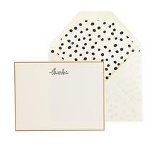 Sugar Paper® letterpress thanks note set : paper goods | J.Crew
