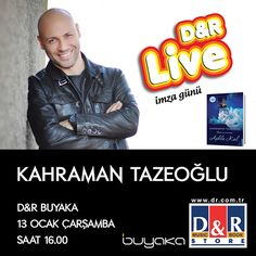 Kahraman Tazeoğlu 13 Ocak Çarşamba günü Buyaka'da! Yeni kitabını imzalatmak isteyen tüm ziyaretçilerimizi bekliyoruz. #Buyaka #KahramanTazeoğlu #İmzaGünü #DR #BuyakaBiBaşka