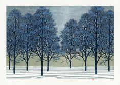 Gorgeous woodblock print by Hajime Namiki.