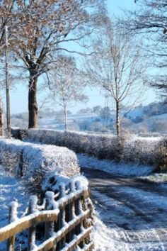 Winter scene of Ribchester in Lancashire, England