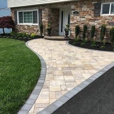 GKB Landscaping created this unique walkway using Cambridge Pavingstones with ArmorTec. Click here to see all the unique walkway designs that have been created.