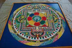 Sand Mandala created by Monks. Photo by Brittany Smith @Lisa Brown #monk #tibet #mandala #sand #art