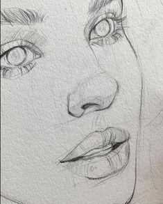 Untitled me pin autos com gustavklimt drawings klimtdrawings p - Easy Pencil Drawings, Cool Art Drawings, Realistic Drawings, Art Drawings Sketches, Sketch Art, Drawing Ideas, Drawing Tips, Girl Sketch, Face Sketch